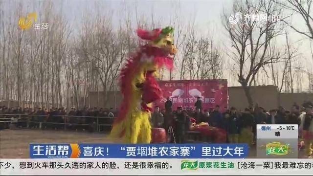 """济宁:喜庆!""""贾堌堆农家寨""""里过大年"""