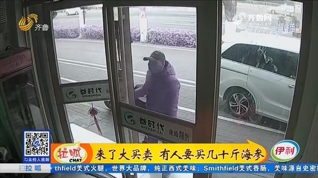 济南:来了大买卖 有人要买几十斤海参