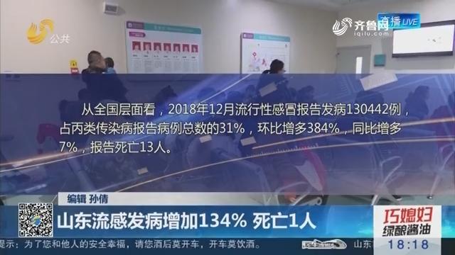 【流感高发】山东流感发病增加134% 死亡1人