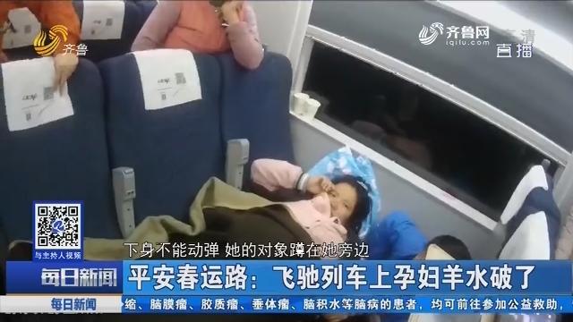平安春运路:飞驰列车上孕妇羊水破了