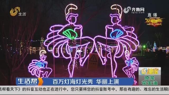 滨州:百万灯海灯光秀 华丽上演