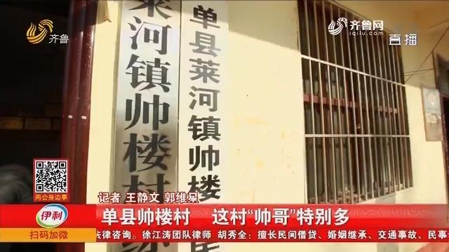 """【文化故事之山东姓氏】单县帅楼村 这村""""帅哥""""特别多"""