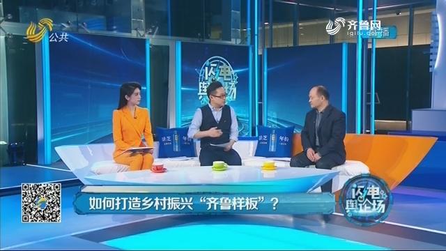 """2019年02月15日《闪电舆论场》:如何打造乡村振兴""""齐鲁样板""""?"""