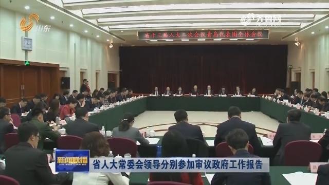 省人大常委会领导分别参加审议政府工作报告
