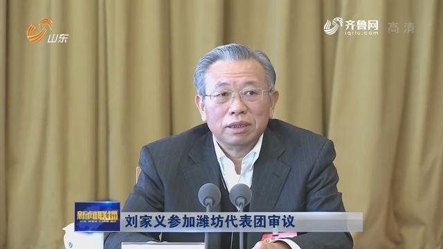 刘家义参加潍坊代表团审议
