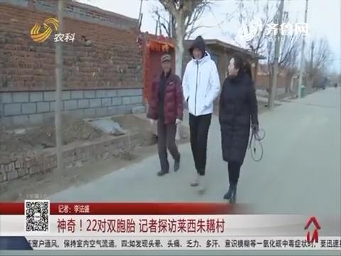 神奇!22对双胞胎 记者探访莱西朱耩村