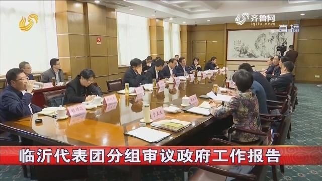 临沂代表团分组审议政府工作报告