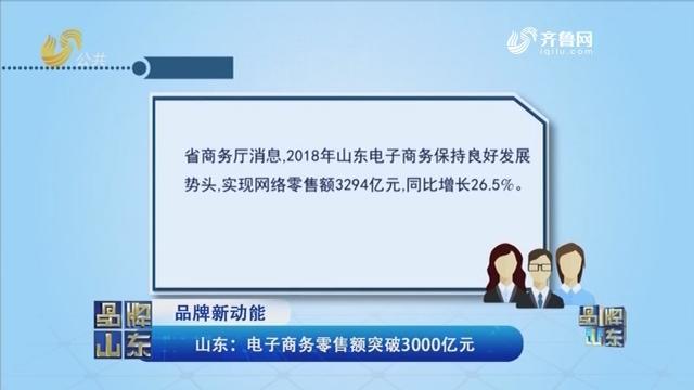 【品牌新动能】山东:电子商务零售额突破3000亿元