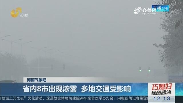 【海丽气象吧】省内8市出现浓雾 多地交通受影响