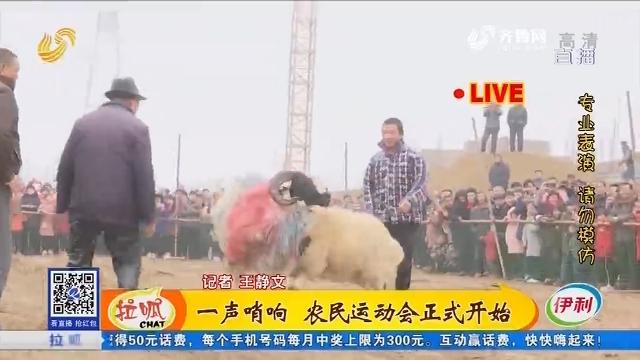 菏泽:一声哨响 农民运动会正式开始