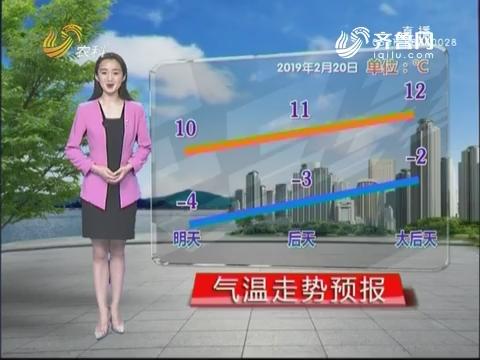 看天气:未来三天气温升高 以晴为主