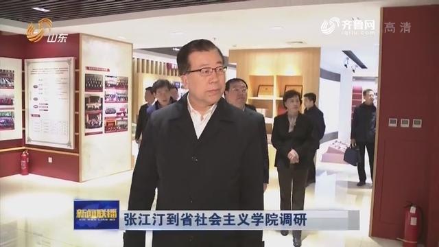张江汀到省社会主义学院调研