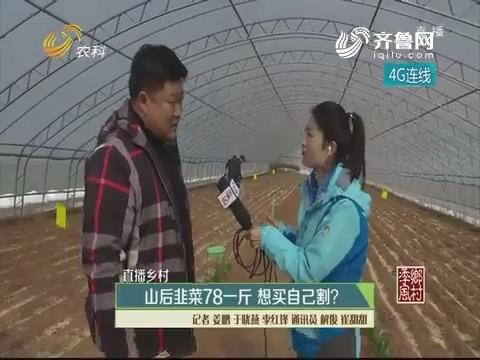 【直播乡村】山后韭菜78一斤 想买自己割?