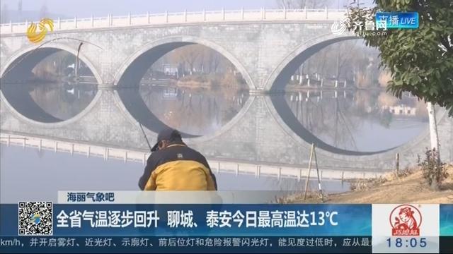 【海丽气象吧】全省气温逐步回升 聊城、泰安2月23日最高温达13℃