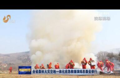 全省森林火灾空地一体化应急救援演练在泰安举行