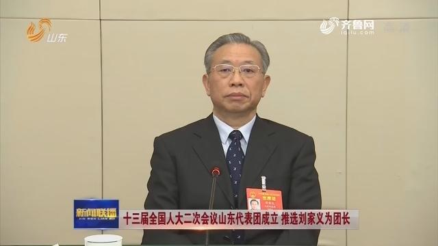 十三屆全國人大二次會議山東代表團成立 推選劉家義為團長