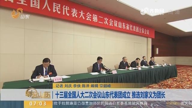 【直通全国两会】十三届全国人大二次会议山东代表团成立 推选刘家义为团长