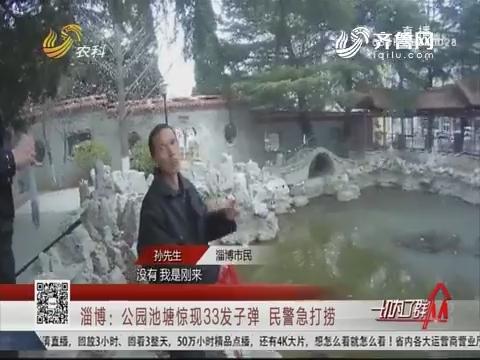 淄博:公园池塘惊现33发子弹 民警急打捞