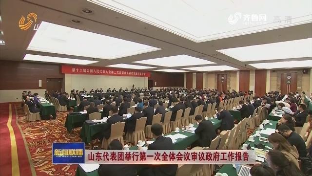 山東代表團舉行第一次全體會議審議政府工作報告