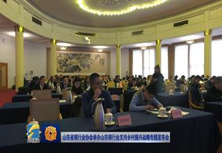 【齐鲁金融】山东省银行业协会举办山东银行业支持乡村振兴战略专题发布会《齐鲁金融》20190306播出