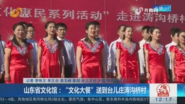 """山东省文化馆:""""文化大餐""""送到台儿庄涛沟桥村"""