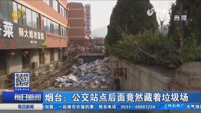 烟台:公交站点后面竟然藏着垃圾场