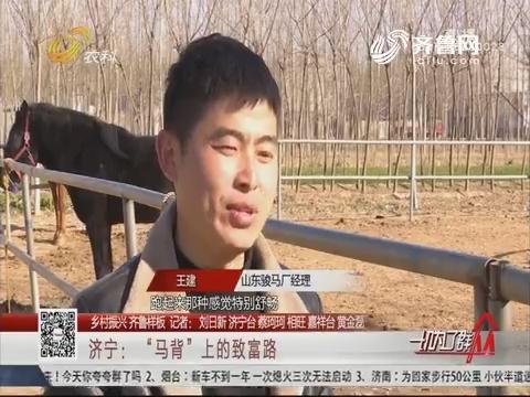 """【乡村振兴 齐鲁样板】济宁:""""马背""""上的致富路"""