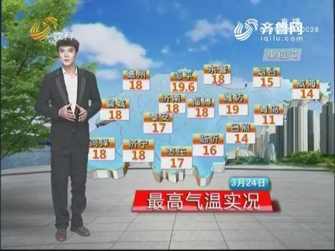 看天气:未来三天以晴为主 南风送暖气温节节攀升