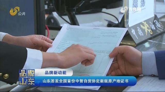 【品牌新动能】山东签发全国首份中智自贸协定新版原产地证书