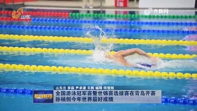 全国游泳冠军赛暨世锦赛选拔赛在青岛开赛 孙杨创今年世界最好成绩