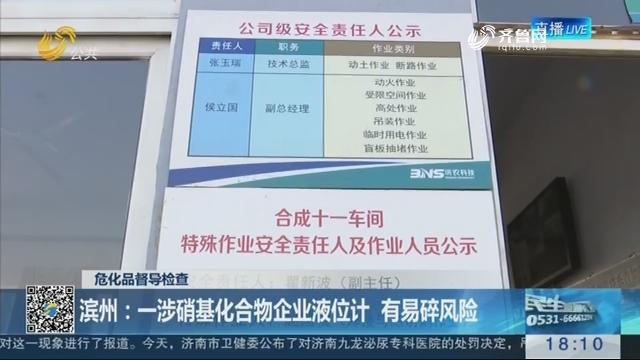 【危化品督导检查】滨州:一涉硝基化合物企业液位计 有易碎风险