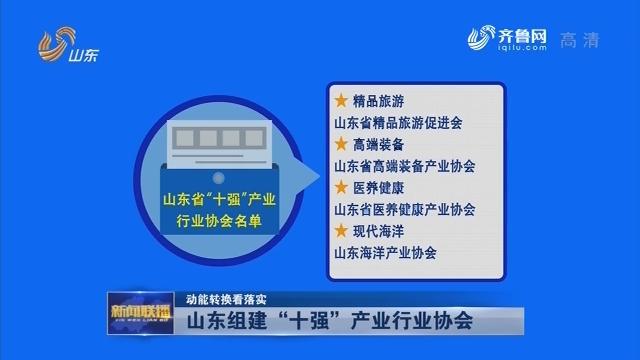 """【动能转换看落实】山东组建""""十强""""产业行业协会"""
