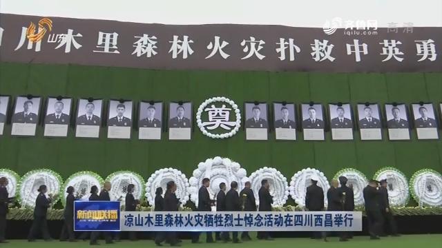凉山木里森林火灾牺牲烈士悼念活动在四川西昌举行