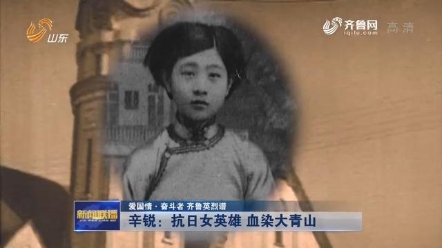 【爱国情·奋斗者 齐鲁英烈谱】辛锐:抗日女英雄 血染大青山