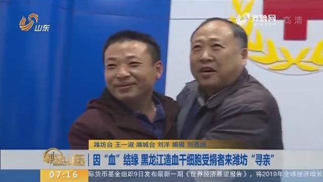 """因""""血""""结缘 黑龙江造血干细胞受捐者来潍坊""""寻亲"""""""
