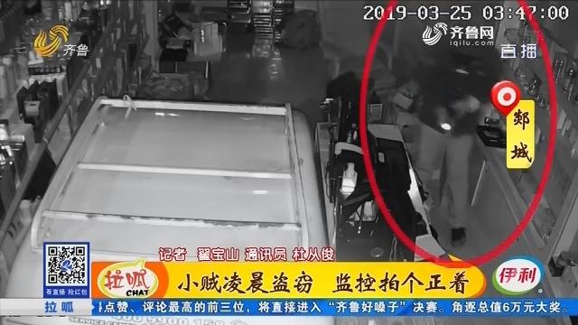 郯城:小贼凌晨盗窃 监控拍个正着