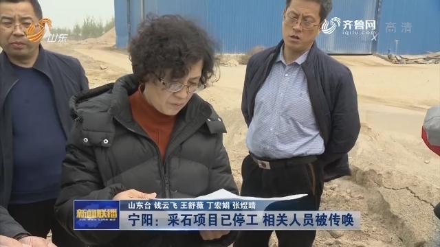 【问政山东·追踪】宁阳:采石项目已停工 相关人员被传唤