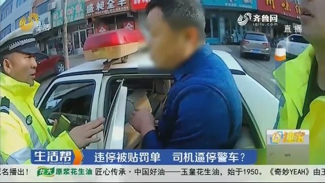 潍坊:违停被贴罚单 司机逼停警车?