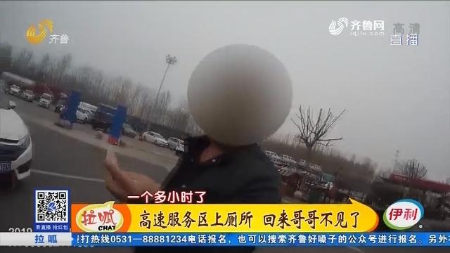 青岛:高速服务区上厕所 回来哥哥不见了