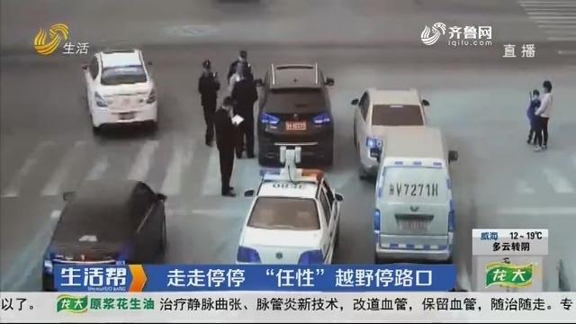 """潍坊:走走停停 """"任性""""越野停路口"""
