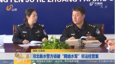 """河北衡水警方侦破""""网络水军""""非法经营案"""