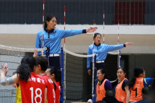 第九届全民健身运动会气排球首站赛济宁举行