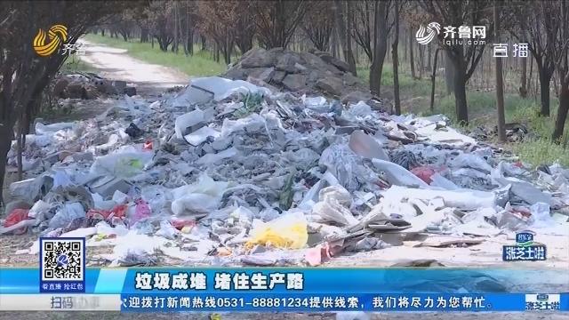济南:垃圾成堆 堵住生产路