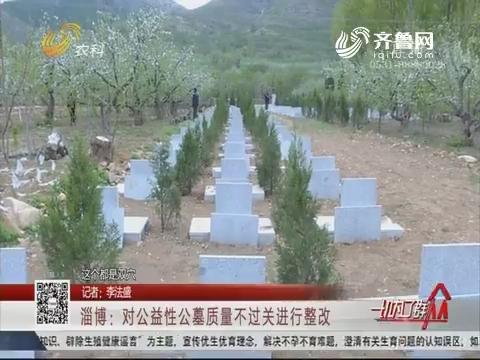 淄博:对公益性公墓质量不过关进行整改