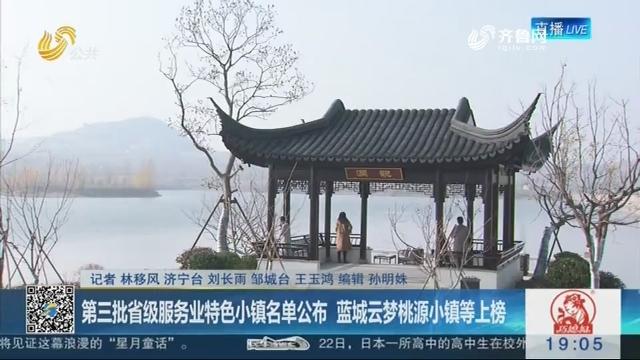 第三批省级服务业特色小镇名单公布 蓝城云梦桃源小镇等上榜