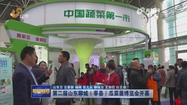 第二届山东聊城(莘县)瓜菜菌博览会开幕