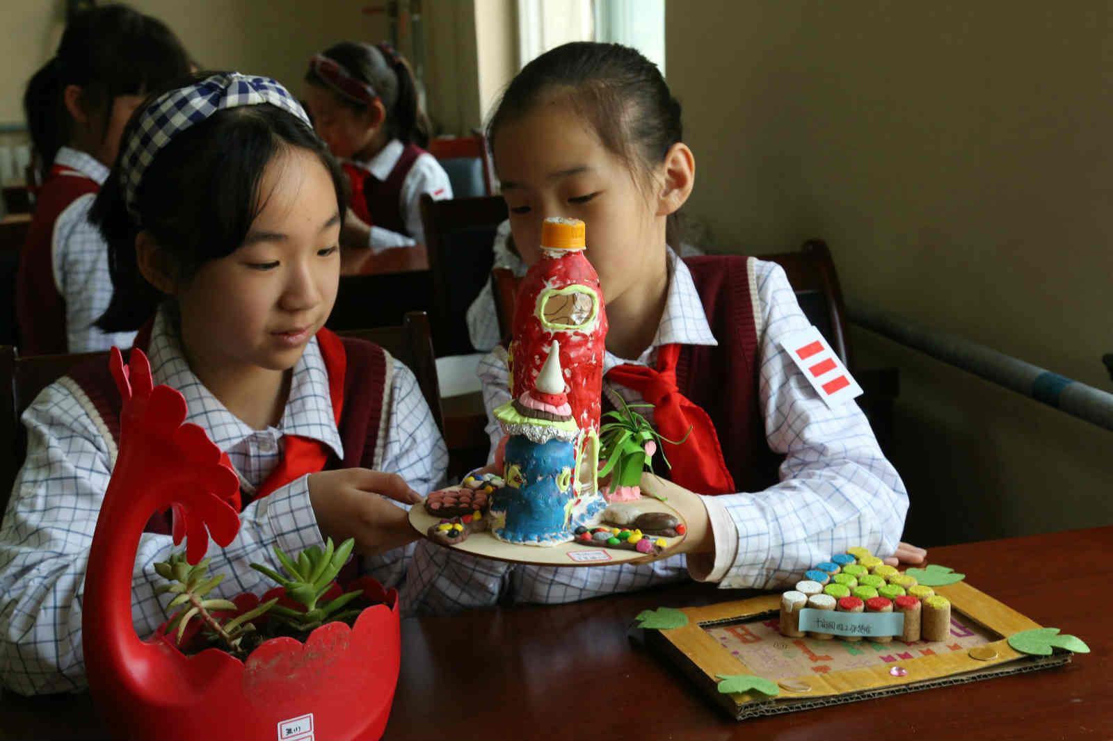 垃圾少一点 地球更美丽——济南市十亩园小学垃圾减量社区行动日