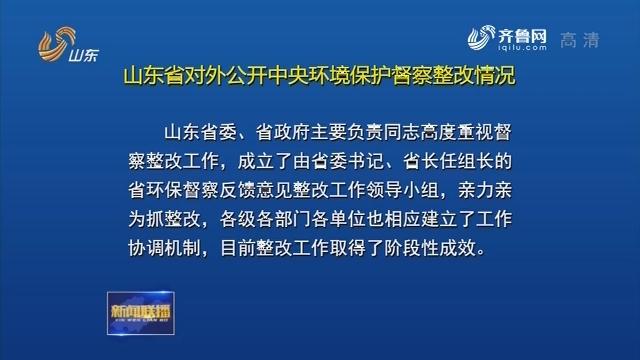 山东省对外公开中央环境保护督察整改情况