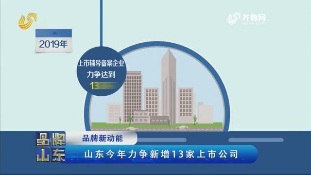 【品牌新动能】山东今年力争新增13家上市公司