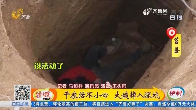 莒县:干农活不小心 大姨掉入深坑